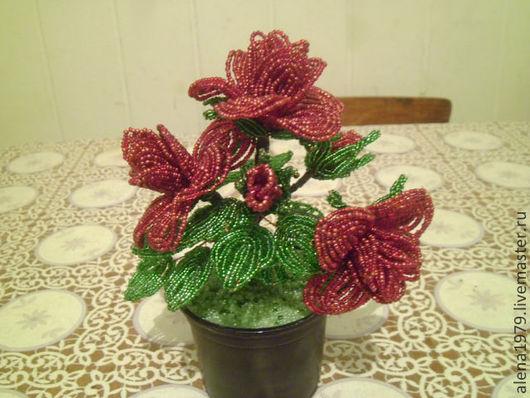 Цветы ручной работы. Ярмарка Мастеров - ручная работа. Купить куст розы. Handmade. Бисер, цветы, розы, куст розы