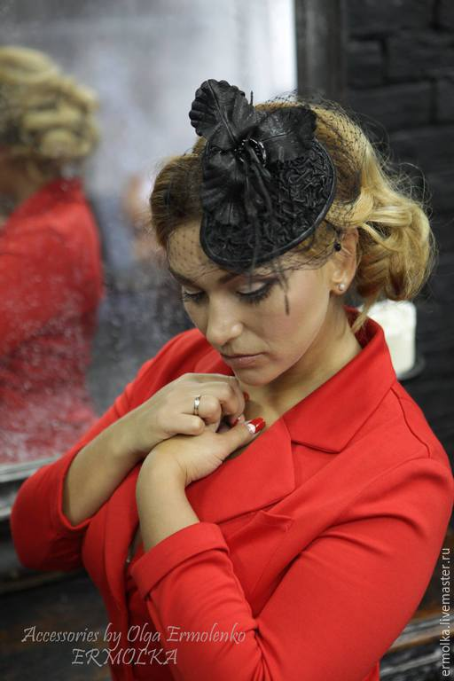 Вечерняя шляпка - вуалетка `Вlack Orchid` Accessories by Olga Ermolenko ERMOLKA __________________________________________ Hairstylist -  Marina Nagorskaya Photographer Anya Sashina