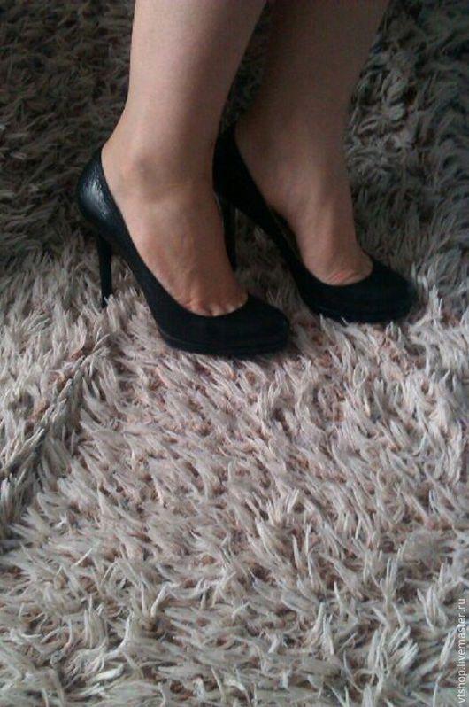 Обувь ручной работы. Ярмарка Мастеров - ручная работа. Купить Туфли из натуральной кожи. Handmade. Черный, натуральные материалы, каблуки