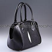 Сумки и аксессуары handmade. Livemaster - original item Bag leather Stingray IMC0542BW. Handmade.
