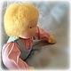 Вальдорфская игрушка ручной работы. Заказать Большая кукла-младенец (с вшитыми ручками) 40 см. Alla  (Waldorf doll&toy). Ярмарка Мастеров.