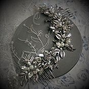 Свадебный салон handmade. Livemaster - original item Wedding wreath. Silver-crystal.. Handmade.