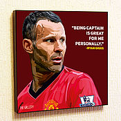 Картины и панно handmade. Livemaster - original item Painting Pop Art Ryan Giggs. Handmade.