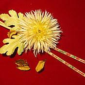 """Цветы и флористика ручной работы. Ярмарка Мастеров - ручная работа брошь """"Хризантема"""". Handmade."""