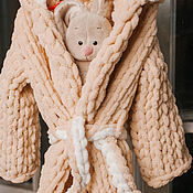 Одежда handmade. Livemaster - original item Children`s Bathrobe with a hood (available and on request). Handmade.