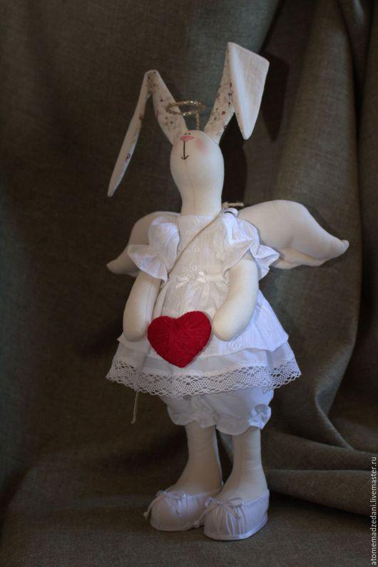 Куклы Тильды ручной работы. Ярмарка Мастеров - ручная работа. Купить Тильда-зайка АНГЕЛ. Handmade. Тильда, ангел