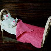 Куклы и игрушки ручной работы. Ярмарка Мастеров - ручная работа Кроватка для куклы (1).. Handmade.