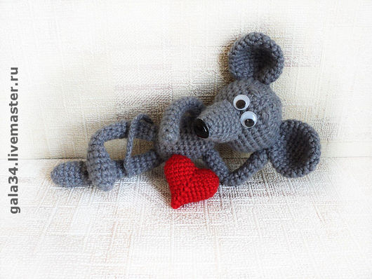 Animal Toys handmade. Livemaster - handmade. Buy The mouse has thrown.Mouse, original gift, plastic spout