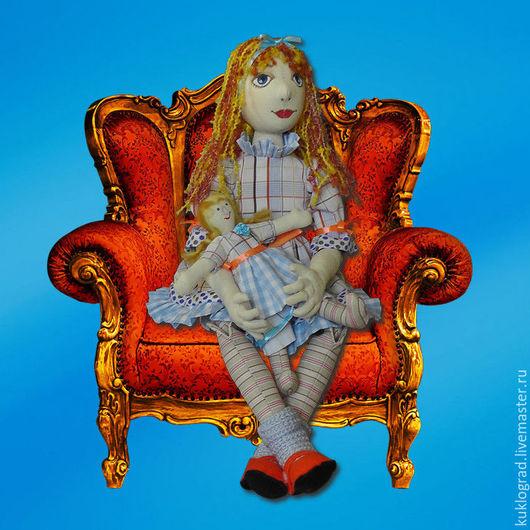 Коллекционные куклы ручной работы. Ярмарка Мастеров - ручная работа. Купить Долечка со своей куколкой, авторская текстильная кукла.. Handmade.