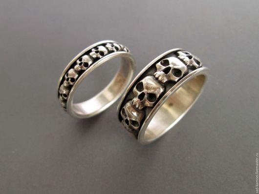 """Украшения для мужчин, ручной работы. Ярмарка Мастеров - ручная работа. Купить кольца """"черепа""""женское и мужское. Handmade. Кольцо, подарок мужчине"""