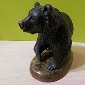 Для дома и интерьера handmade. Livemaster - original item The bear is made of natural Ural ornamental stones Calcite.. Handmade.