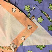 Для дома и интерьера ручной работы. Ярмарка Мастеров - ручная работа Плед 97х107см покрывало детское ткань Бязь-Фланель. Handmade.