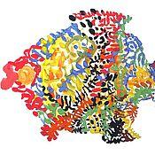 """Картины и панно ручной работы. Ярмарка Мастеров - ручная работа картина """"Рыба №16"""" (серия). Handmade."""