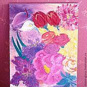 Картины и панно ручной работы. Ярмарка Мастеров - ручная работа Летний букет. Handmade.