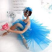 "Интерьерная кукла балерина ""Синяя"""