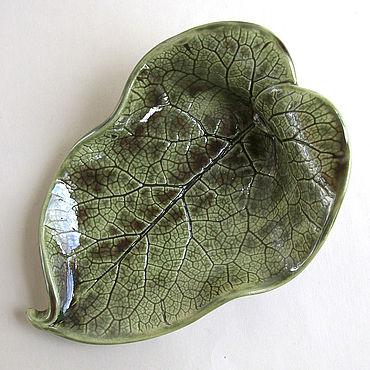 Для дома и интерьера ручной работы. Ярмарка Мастеров - ручная работа Керамический лист «А-ля натюрель». Handmade.