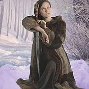 Одежда ручной работы. Ярмарка Мастеров - ручная работа Шуба Время зимы. Handmade.