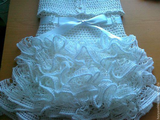 Одежда для девочек, ручной работы. Ярмарка Мастеров - ручная работа. Купить лето в ажуре. Handmade. Белый, ажурная юбка