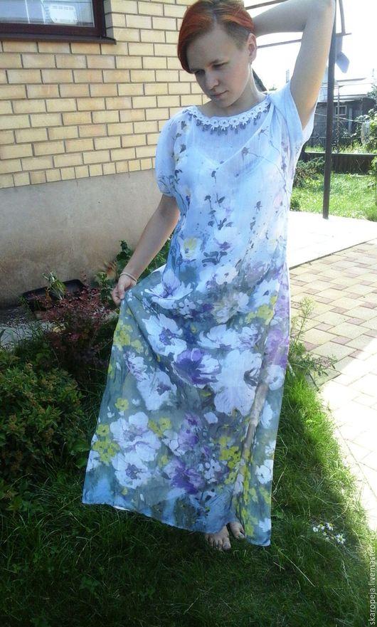"""Платья ручной работы. Ярмарка Мастеров - ручная работа. Купить Платье летнее длинное """"Август"""". Handmade. Длинное платье"""