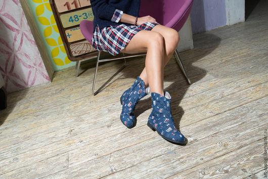 Обувь ручной работы. Ярмарка Мастеров - ручная работа. Купить Летние сапоги 3-257. Handmade. Сапоги ручной работы