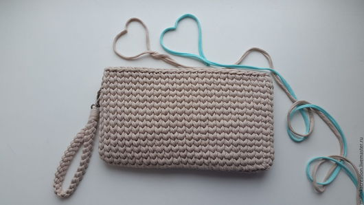 Вязаный клатч Beige Bag от Malinka_Creation