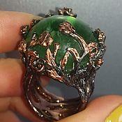 Украшения handmade. Livemaster - original item Emerald Isle ring with green fluorite. Handmade.