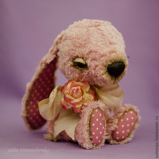 Мишки Тедди ручной работы. Ярмарка Мастеров - ручная работа. Купить зайчик Стефан. Handmade. Розовый, авторские мишки Тедди