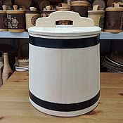 Для дома и интерьера handmade. Livemaster - original item The wooden tub made of cedar for pickling 20 liters. Handmade.