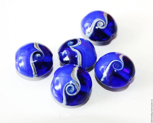 """Для украшений ручной работы. Ярмарка Мастеров - ручная работа. Купить Бусины """"За синими далями"""". Handmade. Бусины для украшений"""