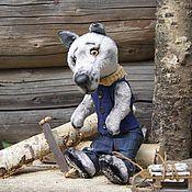 Куклы и игрушки ручной работы. Ярмарка Мастеров - ручная работа Волк Дед Лёня. Handmade.