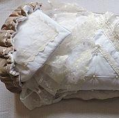 Работы для детей, ручной работы. Ярмарка Мастеров - ручная работа Зимний комплект на выписку. Конверт и одеяло.. Handmade.
