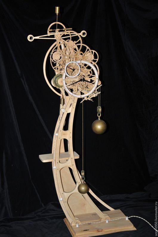 Часы для дома ручной работы. Ярмарка Мастеров - ручная работа. Купить Деревянные часы, напольные, маятниковые.. Handmade. Часы настенные