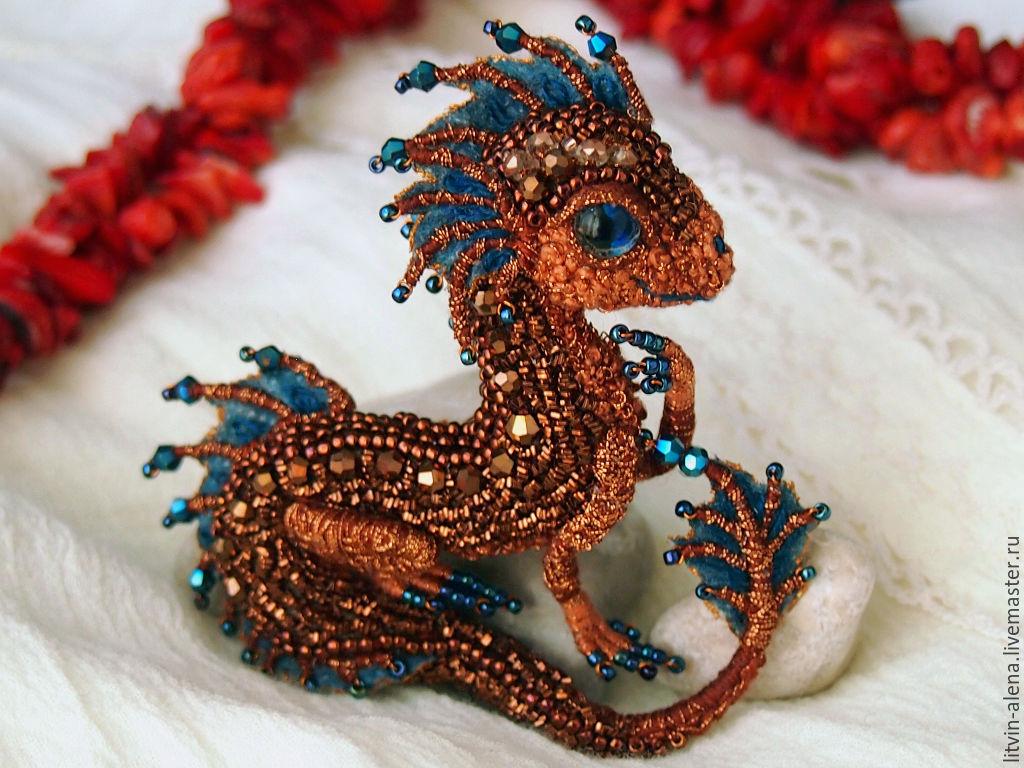 как сделать дракона из бисера мастер класс
