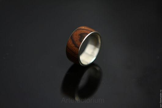 Кольца ручной работы. Ярмарка Мастеров - ручная работа. Купить Серебряное кольцо с тюльпановым деревом № 32. Handmade. Коричневый