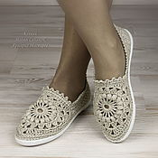 Обувь ручной работы handmade. Livemaster - original item Espadrilles linen knitted. Handmade.