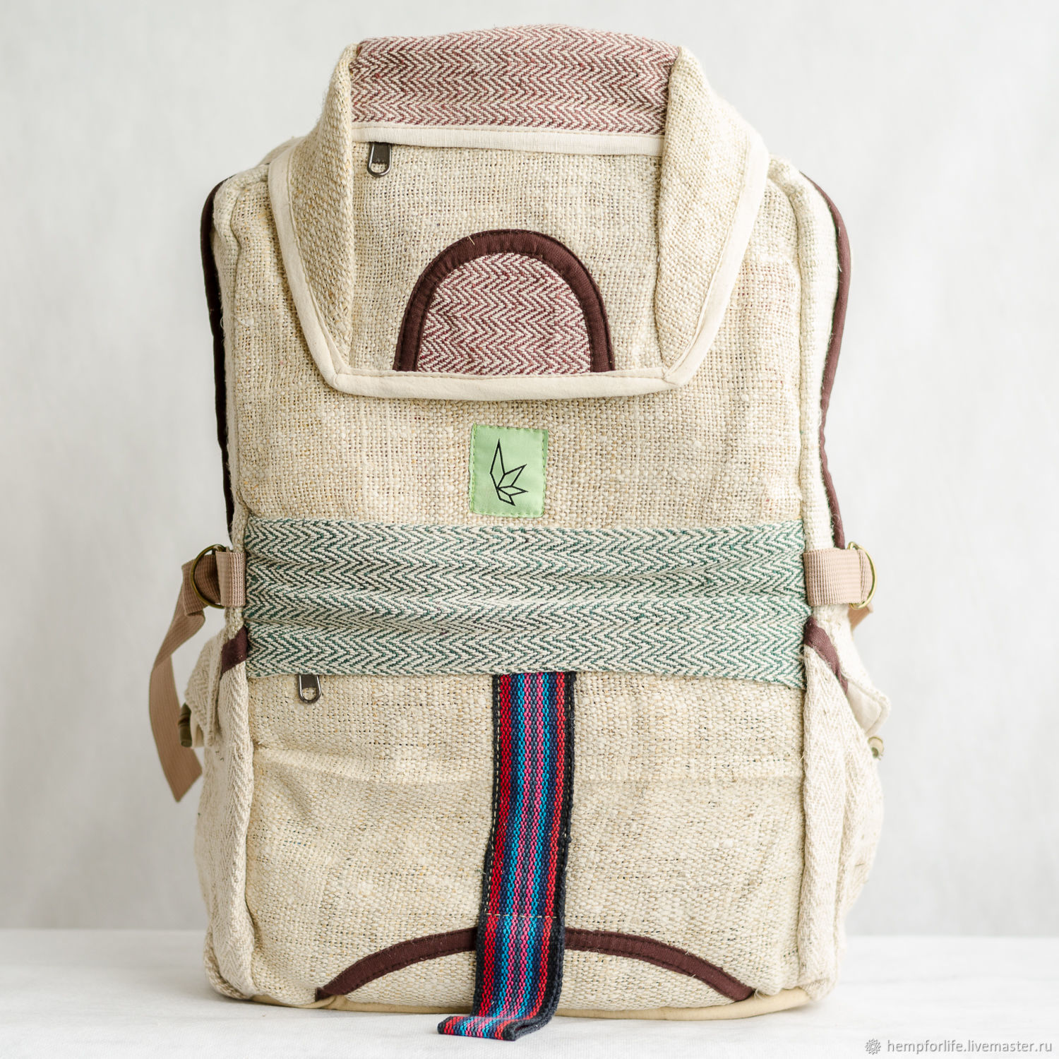 403355e012 Backpacks handmade. Livemaster - handmade. Buy Hemp backpack with one  compartment.