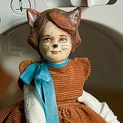 Куклы и игрушки ручной работы. Ярмарка Мастеров - ручная работа Подвижная кукла Лисичка. Handmade.