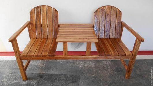 Мебель ручной работы. Ярмарка Мастеров - ручная работа. Купить Лавка деревянна. Handmade. Бежевый