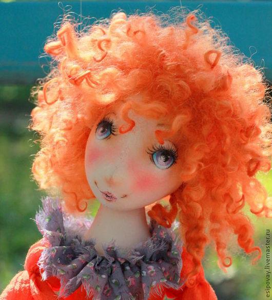 Коллекционные куклы ручной работы. Ярмарка Мастеров - ручная работа. Купить Рыжая в Бохо. Handmade. Чудесный подарок, кудри овцы