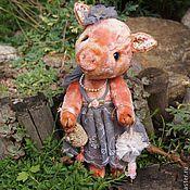 Куклы и игрушки ручной работы. Ярмарка Мастеров - ручная работа Свинка Розмари.. Handmade.