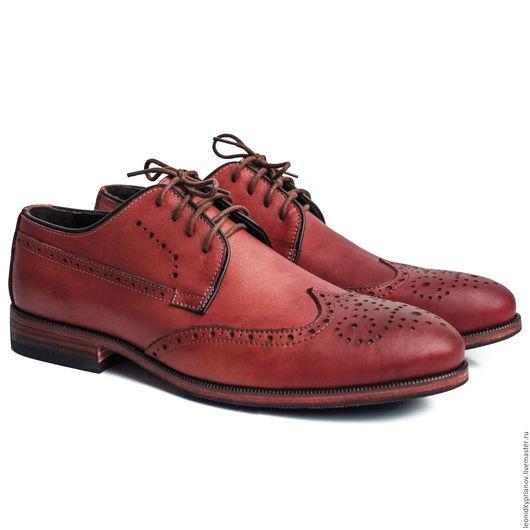 Обувь ручной работы. Ярмарка Мастеров - ручная работа. Купить Модель - Brogues. Handmade. Коричневый, аксессуары ручной работы