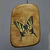 """Украшения ручной работы. Ярмарка Мастеров - ручная работа кулон """"Бабочка"""". Handmade."""
