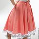Летняя юбка в стиле 50-х. Крой-`солнце` на поясочке подойдет для любого размера талии. Идеально подойдет девушкам, одевающимся просто, элегантно и с `изюминкой`. Жаркое лето будет красивым!