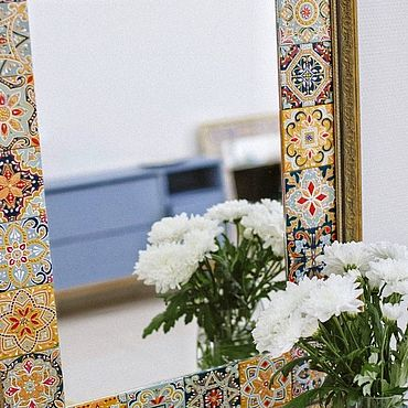 Для дома и интерьера ручной работы. Ярмарка Мастеров - ручная работа Зеркало интерьерное. Handmade.