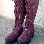 """Обувь ручной работы. Ярмарка Мастеров - ручная работа Валенки-сапожки """"Бордо"""". Handmade."""