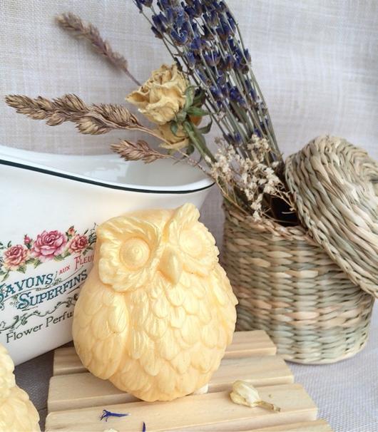 Мыло ручной работы. Ярмарка Мастеров - ручная работа. Купить Сова сувенирное мыло ручной работы. Handmade. Сова, птица