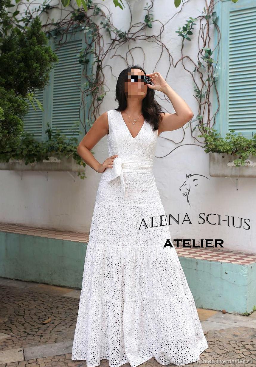 59e17b2c945 Платье сарафан из шитья. Malena Fashion. Интернет-магазин Ярмарка Мастеров