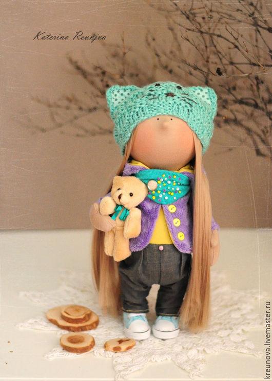 Коллекционные куклы ручной работы. Ярмарка Мастеров - ручная работа. Купить Малышка 28 см. Handmade. Сиреневый, трикотаж хлопок