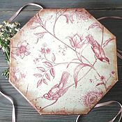 Короб ручной работы. Ярмарка Мастеров - ручная работа Короб-шкатулка большая Райские птицы в винтажном стиле ,в стиле шебби. Handmade.