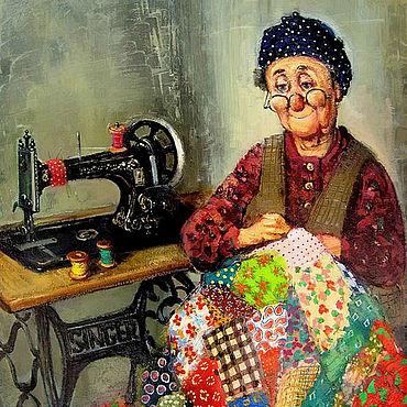 Картины и панно ручной работы. Ярмарка Мастеров - ручная работа Тевдорадзе Ладо. Швея. Handmade.